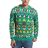 *daisysboutique**** Daisyboutique Men's Christmas Decorations Stripes Sweater Cute Ugly Pullover