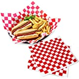 """Deli Paper Sheets Sandwich Wrap Paper - 12x12"""" Food Wrapping Grease Resistant Checkered Liner Papers, Perfect for Restaurants"""