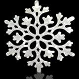 "CHengQiSM Large Snowflakes Set of 5 White Glittered Snowflakes Approximately 12"" D -Two Asst Designs Christmas Decorative Han"