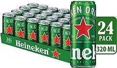 Heineken Lager Beer Can, 320ml (Pack of 24)