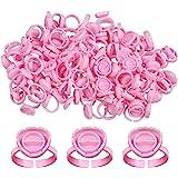 Fenshine 100 PCS Lash Glue Holder Glue Ring Cups Lash Extension Volume Lashes Quick Blossom Cups for Eyelash Extension Supply