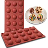 15-Cavity Semi Sphere Silicone Mold 2pc Cocoa Chocolate Bombs Molds for Chocolate, Truffles, Candy, Cake, Jelly, Mousse Makin