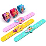 N/H Silicone Mermaid Slap Bracelets - Cute Mermaid Theme Birthday Party Favors , Boys Girls Party Favors Gifts Carnival Prize