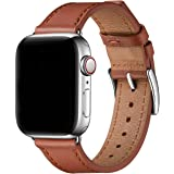 BesBand コンパチブル apple watch バンド 38mm 40mm 42mm 44mm,本革対応アップルウ…