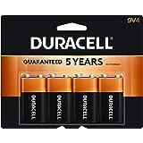Duracell Coppertop Alkaline 9 Volt Batteries- 4 Count Doublewide