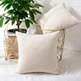 MERNETTE Pack of 2, Chenille Soft Decorative Square Throw Pillow Cover Cushion Covers Pillowcase, Home Decor Decorations for