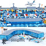 200 Pieces Aircraft Model Playset Airport Assembled Toys for Kids Gift