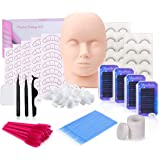 Eyelash Extension kit, MYSWEETY False Eyelashes Extensions Practice Tool Set & Practice Training Mannequin Head Model for Cos