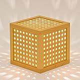 木のあかり ひかりの小箱2 小型テーブルランプ 組子照明 青森ヒバ製 国産手作り 10ワット