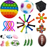 Bestek 30 Pcs Sensory Fidget Toys Set, Stress Relief and Anti-Anxiety Tools Bundle Toys Assortment,Stocking Stuffers for Kids