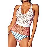 CUPSHE Women's Beautiful World Printing One-Piece Swimsuit Beach Swimwear Bathing Suit