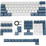 Happy Balls PBTキーキャップ バックライト付き チェリー MX キーキャップセット ダブルショット OEM プロファイル 半透明キーキャップ 互換性があります US-ANSI UK-ISO レイアウト 61 68 84 87 104 1