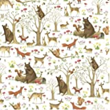 Colors of Rainbow - Fairytale Forest - Gift Wrap Paper, 2.5 Feet x 10 Feet, Folded Flat, Not Rolled - Fairytale Forest