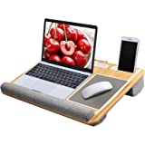 "Lap Desk - Fits up to 17"" Laptop Desk, Built in Mouse Pad & Wrist Pad for Notebook, MacBook, Tablet, Laptop Stand with Tablet"