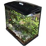 AquaLife Fish Tank Aquarium Curved Glass Filter Cabinet Stand Pump Light 10L 35L 70L 100L (10L)