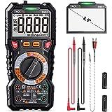 Digital Multimeter TRMS 6000 Counts,LED Intelligent Indicator Jack, Manul Ranging Measuring AC/DC Voltage,AC/DC Current,Resis