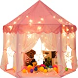 Sunnyglade 55'' x 53'' Princess Tent with 8.2 Feet Big and Large Star Lights Girls Large Playhouse Kids Castle Play Tent for