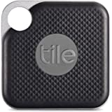 Tile Pro Black (With Replaceable Battery) - 1 Pack, Black & Grey