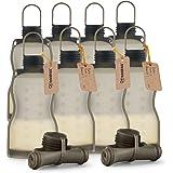 Haakaa Silicone Milk Storage Bag,Reusable Breast Milk Bags for Breastfeeding (10 Count),Food Grade Silicone,BPA Free,9 oz/260