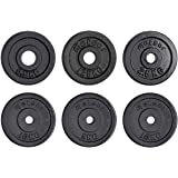 Meteor Essential Cast Iron Weight Plate 25.4mm Hole, Standard Plate Weightlifting Plate for Dumbbells, Barbell, Weight Liftin