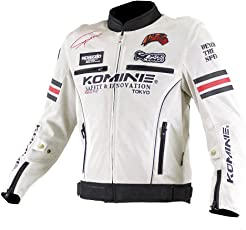 コミネ(Komine) バイクジャケット レジェンドメッシュジャケット アイボリー/ブラック 2XL 07-300 JK-300
