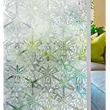 Homein Window Film Privacy, 3D Crystal Clear Diamond Decorative Stained Glass Window Film Rainbow Effect Removable Self Adhes