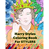Harry Styles Coloring Book for Stylers: Beautiful Stress Relieving Coloring Pages for Stylers and One Direction Fans! 8.5 in