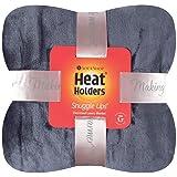 Heat Holders Snuggle Ups Luxury Thermal Throw-Blanket 180CM x 200CM (Antique Silver)