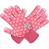 JH Heat Resistant Oven Glove: EN407 Certified 932 °F, 2 Layers Silicone Coating, Coral Shell with Pink Coating, BBQ & Oven Mi