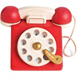Le Toy Van - Vintage Wooden Toy Phone Role Play Toy | Boys Or Girls Pretend Play Toy Food Playset - for Ages 2+
