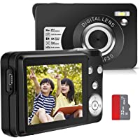 Digital Camera, Compact, 32 GB Card Included, Japanese Instruction Manual, 1080P, 30 Million…