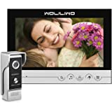 WOLILIWO Video Doorbell 9 inch Monitor with Door Bell Camera Kits Video Intercom System Support Video Doorphone Intercom Nigh