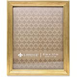 Lawrence Frames Sutter Burnished Picture Frame, 8 by 10-Inch, Gold