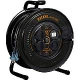 ハタヤ(HATAYA) コードリール サンデーレインボーリール30m 屋外用防雨型 (SS-30のブラック塗装) HATAYAxGranGearコラボ商品 ブラックカラー SS-30B2