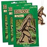 BIGFOOT Air Freshener - 3 Pack Pine Scent - For Car RV Trailer Tent - Best Yeti Sasquatch Bigfoot Gifts