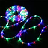 Bebrant LED Rope Lights Battery Operated String Lights-40Ft 120 LEDs 8 Modes Outdoor Waterproof Fairy Lights Dimmable/Timer w