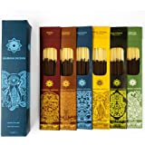 Jembrana Incense Sticks - Mix 6 Scents (144 Sticks Total), 24 Sticks Each of Lotus (Padma), Sandalwood, Gardenia, Maha Trilok