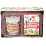 Michel Design Works Flamingo Candle and Soap Gift Set, Flamingo
