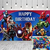 Avengers Background Marvel Birthday Party Supplies Backdrop 5x3ft Superhero Theme Background Photography for Kids Birthday Ba