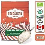 Foodsterr Organic Whole Wheat Flour, 800g