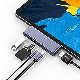 STRENTER 6in1 ipad pro 最新ipad air4 専用ドッキングハブ 安定感抜群ipad pro usb-c ハブ 4K HDMI出力 3.5mmイヤホンジャック SD/Micro SD カードリーダー コンパクト MacBook