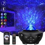 Star Projector, Ocean Wave Night Light Projector with Adjustable Lightness Remote Control Timer 10 Lighting Modes and Built-i