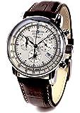 ZEPPELIN(ツェッペリン) 腕時計 ツェッペリン100周年記念モデル アイボリー×ブラウン 7680-1 メンズ…