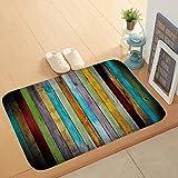 Bath Mat Non-Slip Absorbent Soft Mat,Solid Wood Floor Printing pad,Suitable for Bathroom Living Room Kitchen Bedroom,40 * 60c