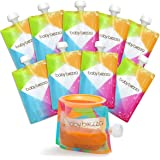 Baby Brezza Reusable Baby Food Storage Pouches, 10 Pack 7oz - Make Organic Food Puree for Kids or Toddlers and Store in Refil