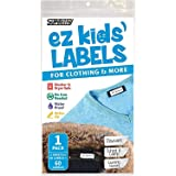 Ez Kids Clothing Labels Self-Stick No-Iron Write-On | Great for Children & Adults | Washer & Dryer Safe | School, Camp, Nursi