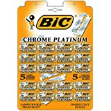 BIC Double Edge Safety Razor for Men & Women With Chrome Platinum Covering - Pack of 100 Classic Barber Manual Razors