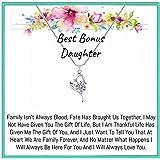 Onepurposegifts Step Daughter Gift, Bonus Daughter Gift, Step Daughter Necklace, Stepdaughter Gifts from Stepmom Stepdaughter