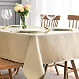 maxmill Square Table Cloth Swirl Pattern Spillproof Wrinkle Resistant Oil Proof Heavy Weight Soft Tablecloth for Kitchen Dinn