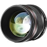 Neewer 85mm f/1.8 マニュアルフォーカス非球面中望遠レンズ APS-C DSLR Canon EOS 80D, 70D, 60D, 60Da, 50D, 7D, 6D, 5D, 5DS, 1Ds, Rebel T6s, T6i, T6